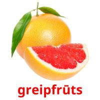 greipfrūts picture flashcards