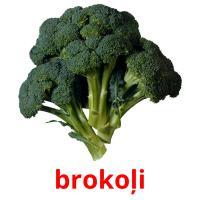 brokoļi picture flashcards