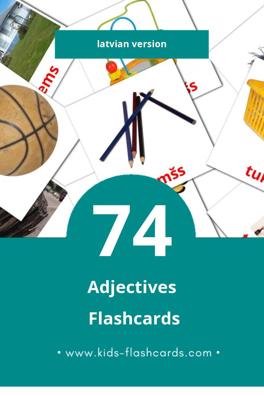 Visual darbības vārdi Flashcards for Toddlers (74 cards in Latvian)