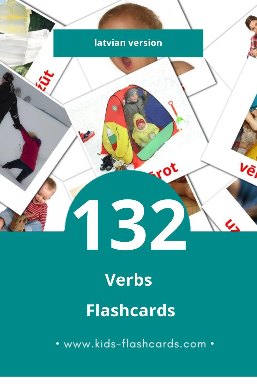 Visual Darbības vārdi Flashcards for Toddlers (77 cards in Latvian)