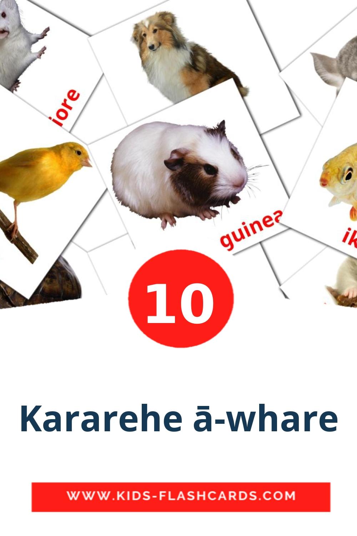 10 Kararehe ā-whare Picture Cards for Kindergarden in maori