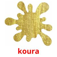 koura picture flashcards
