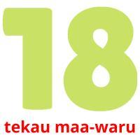 tekau maa-waru picture flashcards
