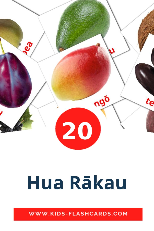 20 Hua Rākau Picture Cards for Kindergarden in maori