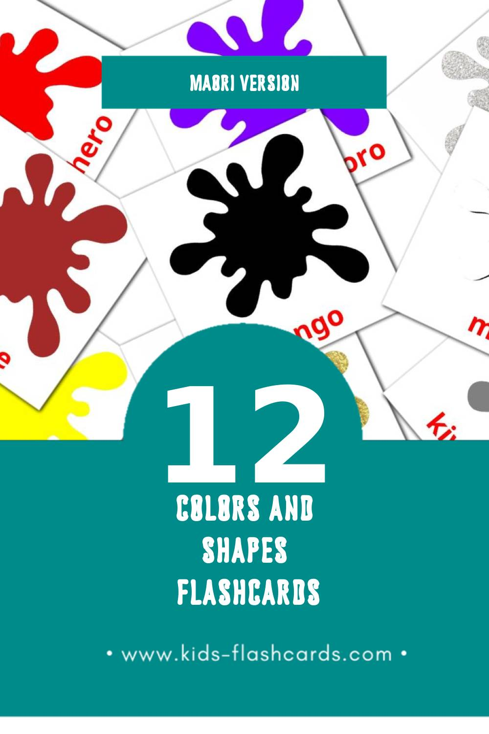Visual āhuahanga Flashcards for Toddlers (12 cards in Maori)