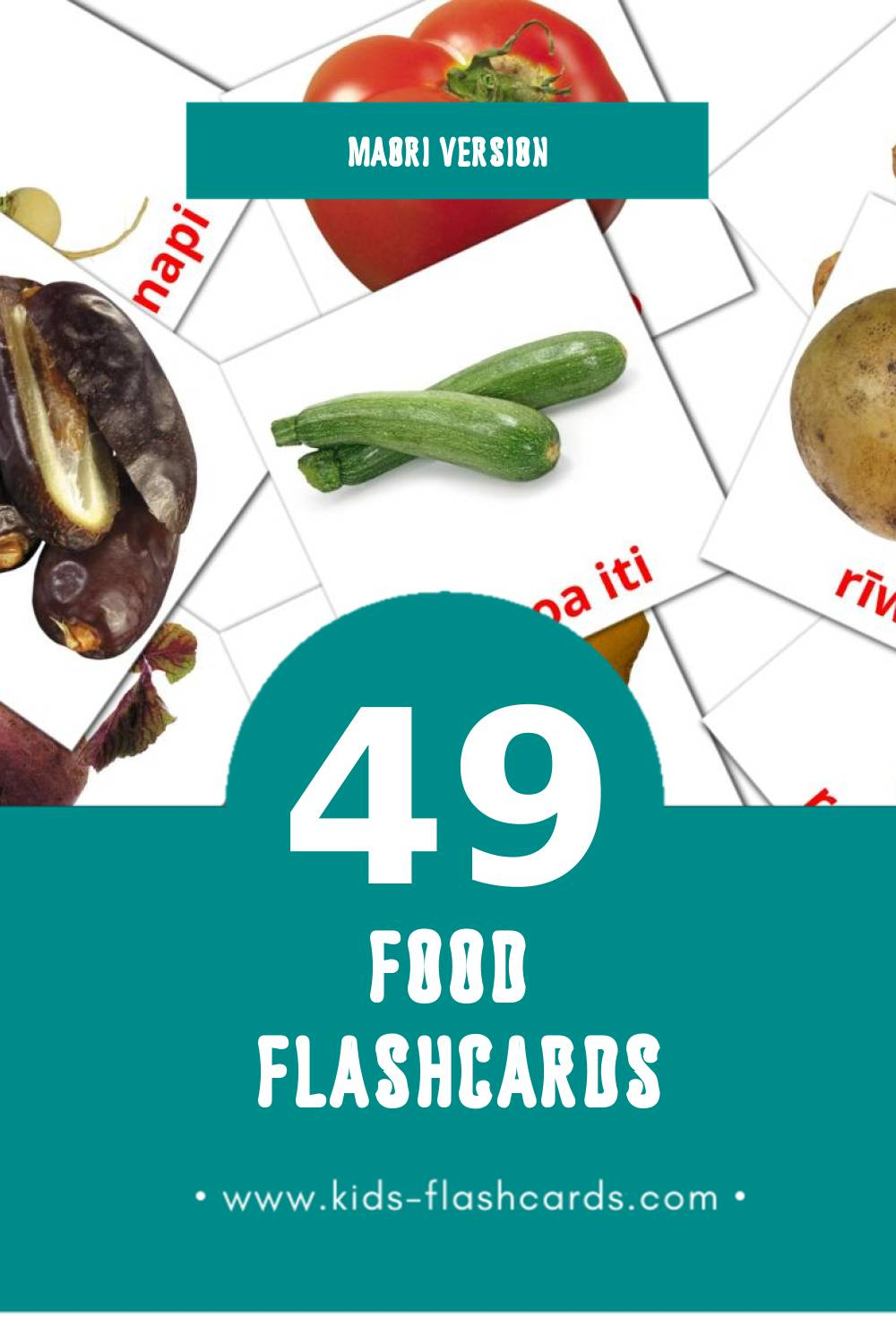 Visual Kai Flashcards for Toddlers (49 cards in Maori)