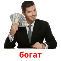 богат picture flashcards
