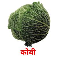कोबी  picture flashcards