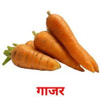 गाजर picture flashcards