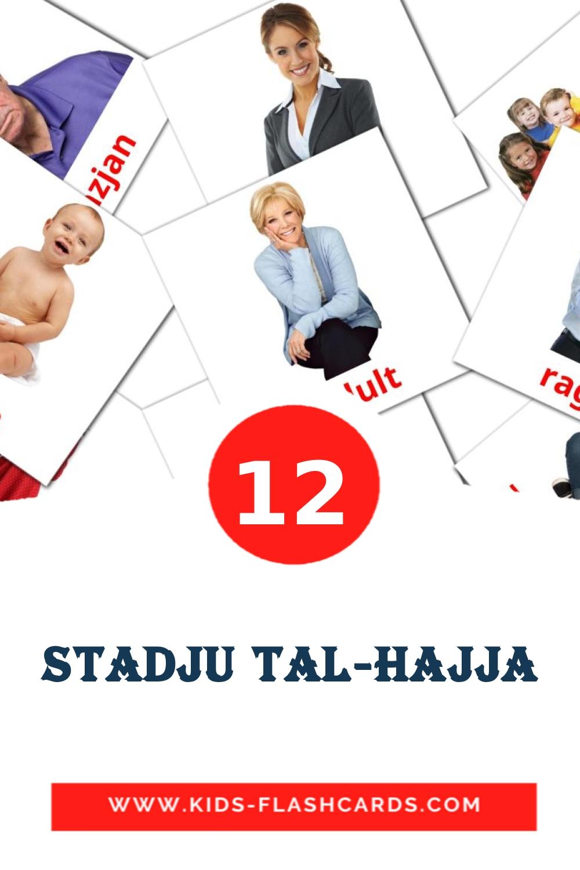 12 Stadju tal-Hajja Picture Cards for Kindergarden in maltese