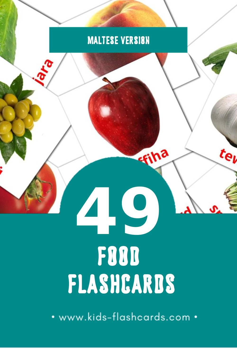 Visual Ikel Flashcards for Toddlers (49 cards in Maltese)