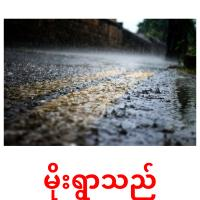 မိုးရွာသည် picture flashcards