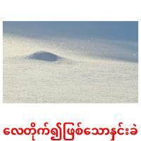 လေတိုက်၍ဖြစ်သောနှင်းခဲ picture flashcards