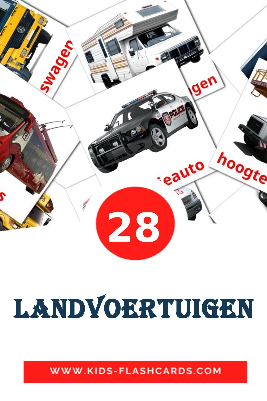 28 Landvoertuigen Picture Cards for Kindergarden in dutch