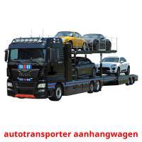 autotransporter aanhangwagen picture flashcards