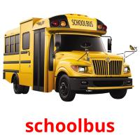 schoolbus picture flashcards