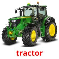 tractor picture flashcards