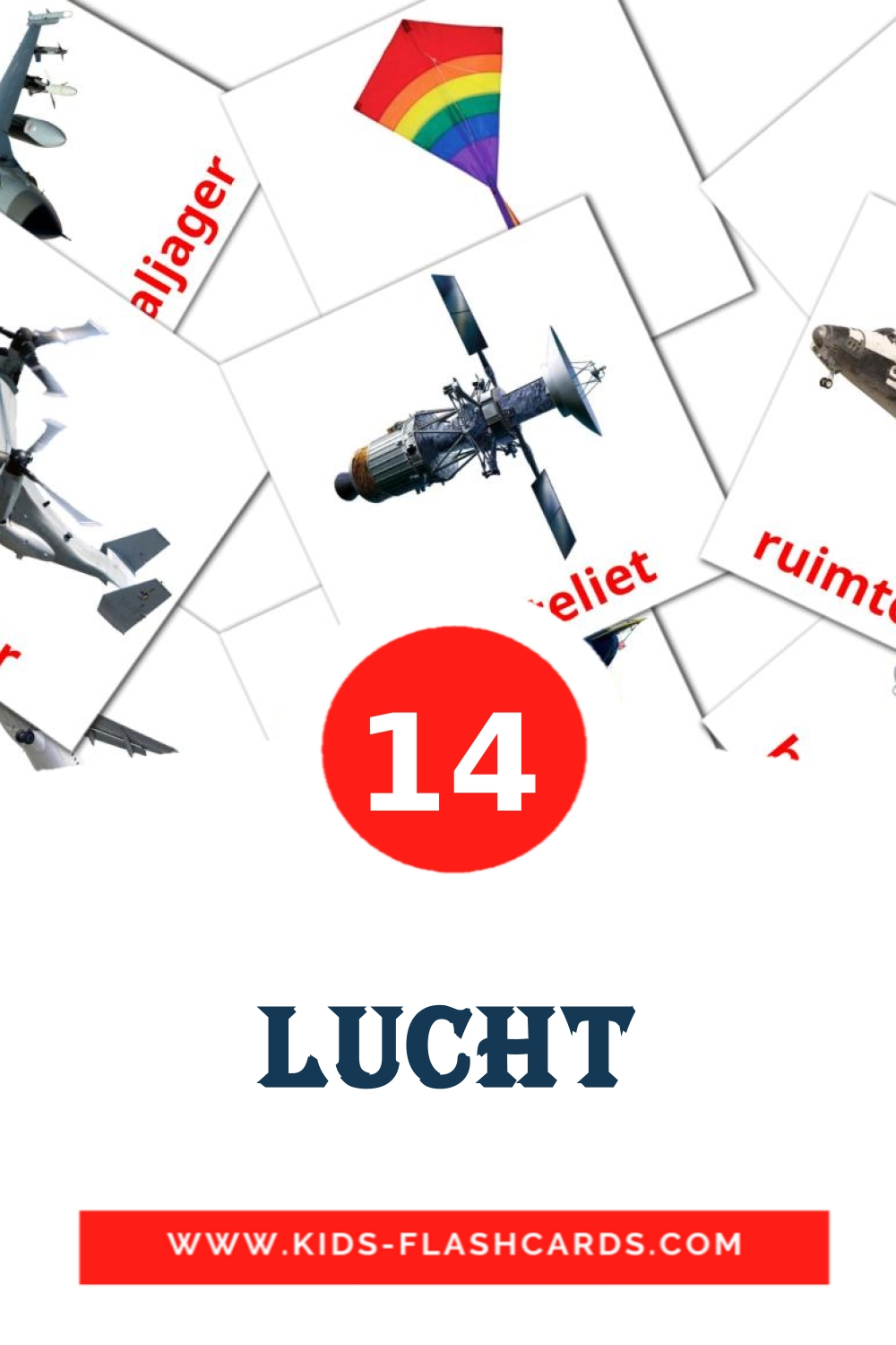 14 Lucht Picture Cards for Kindergarden in dutch