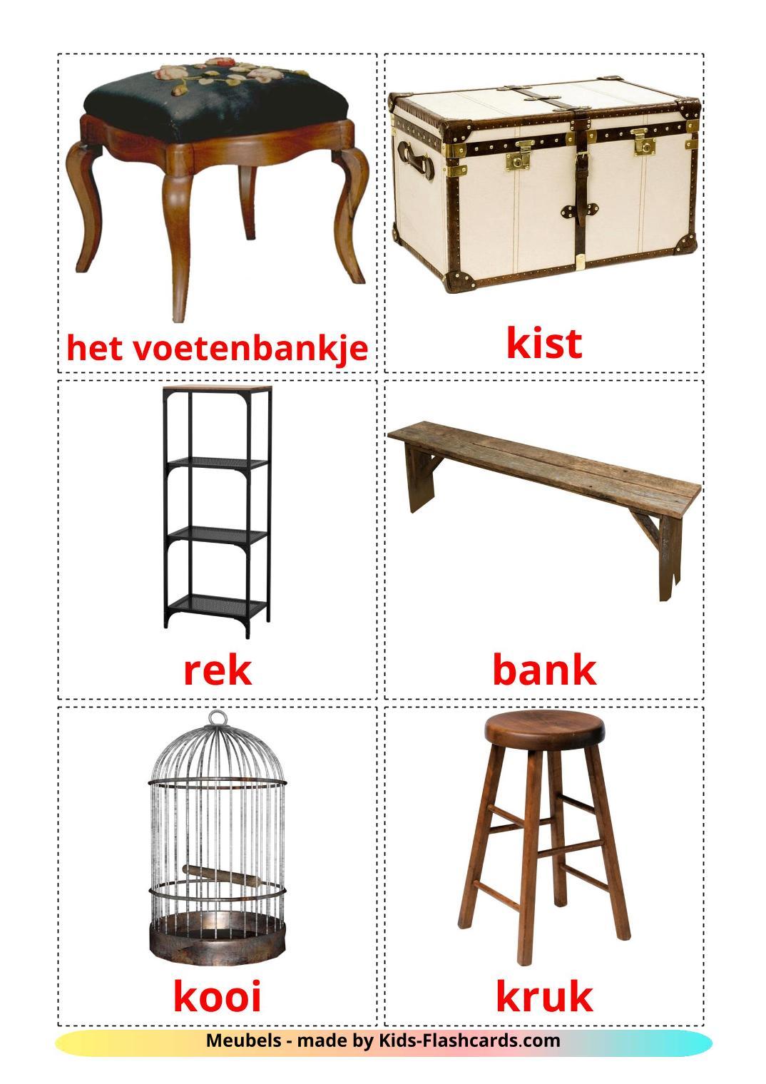 Furniture - 31 Free Printable dutch Flashcards