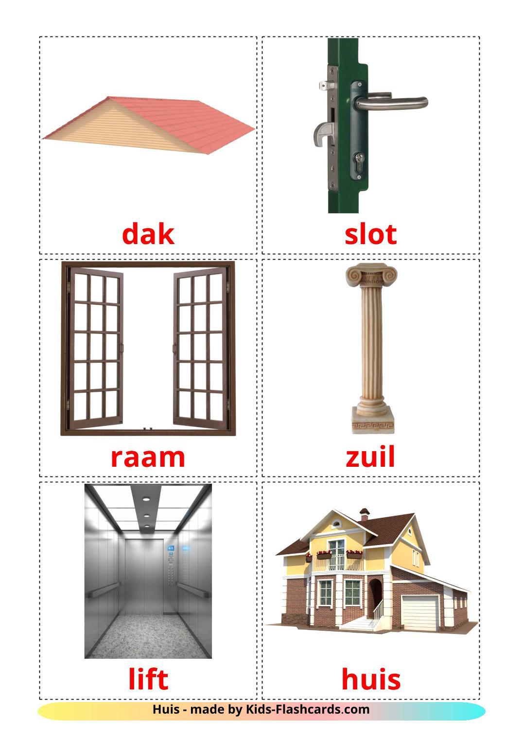 House - 25 Free Printable dutch Flashcards
