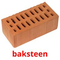 baksteen picture flashcards