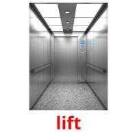 lift picture flashcards