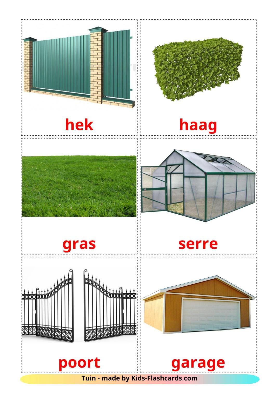 Garden - 18 Free Printable dutch Flashcards