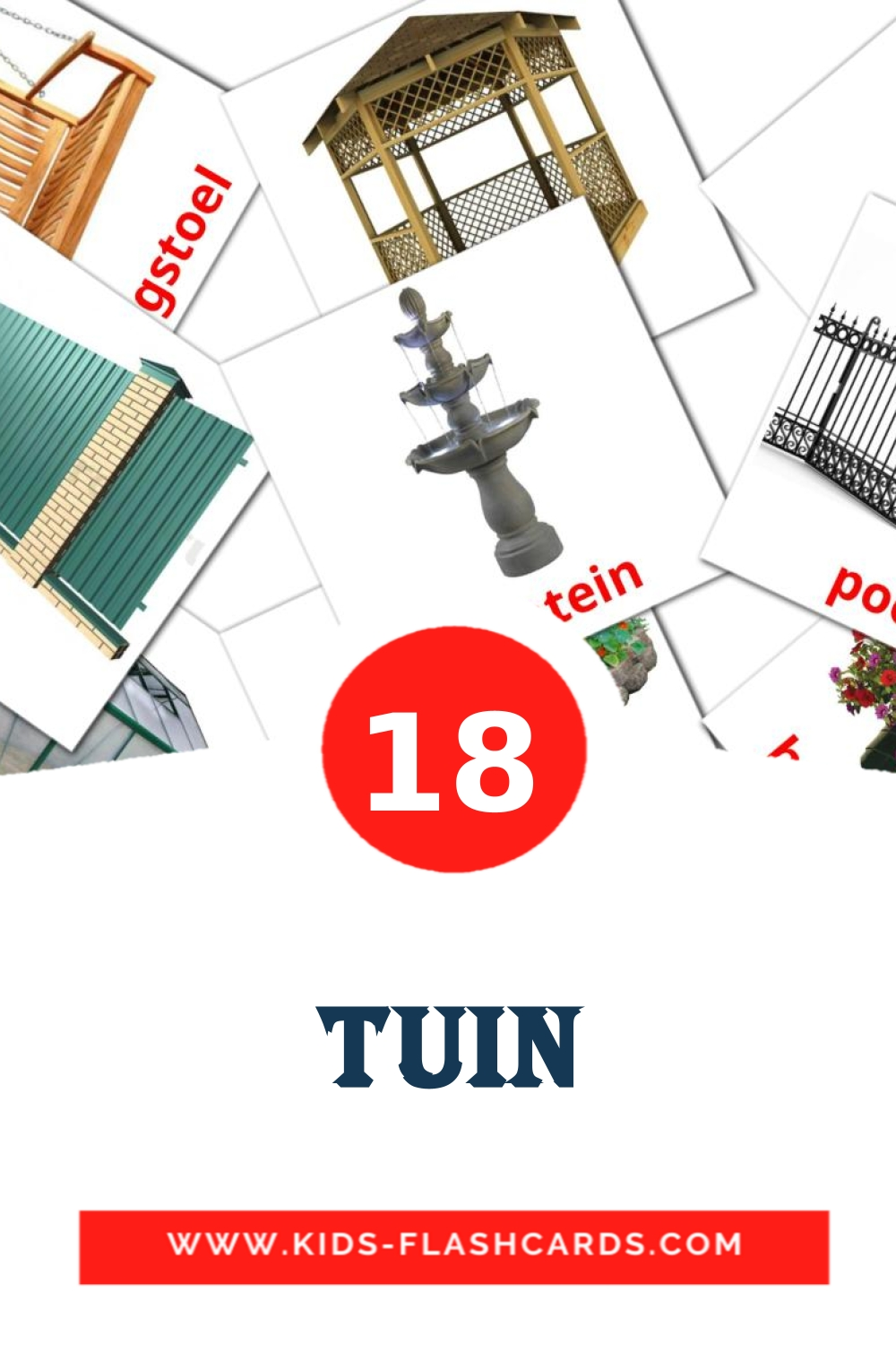 18 Tuin Picture Cards for Kindergarden in dutch
