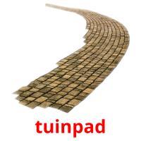 tuinpad picture flashcards