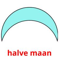 halve maan picture flashcards