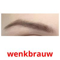 wenkbrauw picture flashcards