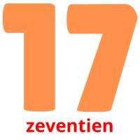 zeventien picture flashcards