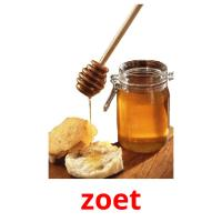 zoet picture flashcards