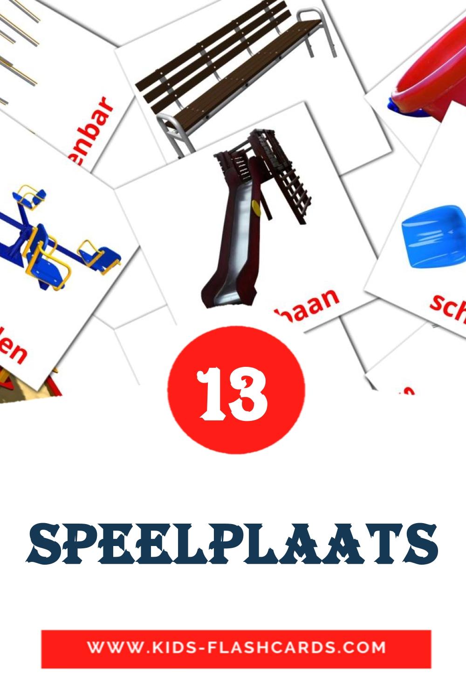 13 Speelplein Picture Cards for Kindergarden in dutch