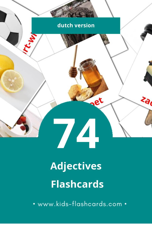 Visual Bijvoegelijke naamwoorden Flashcards for Toddlers (74 cards in Dutch)