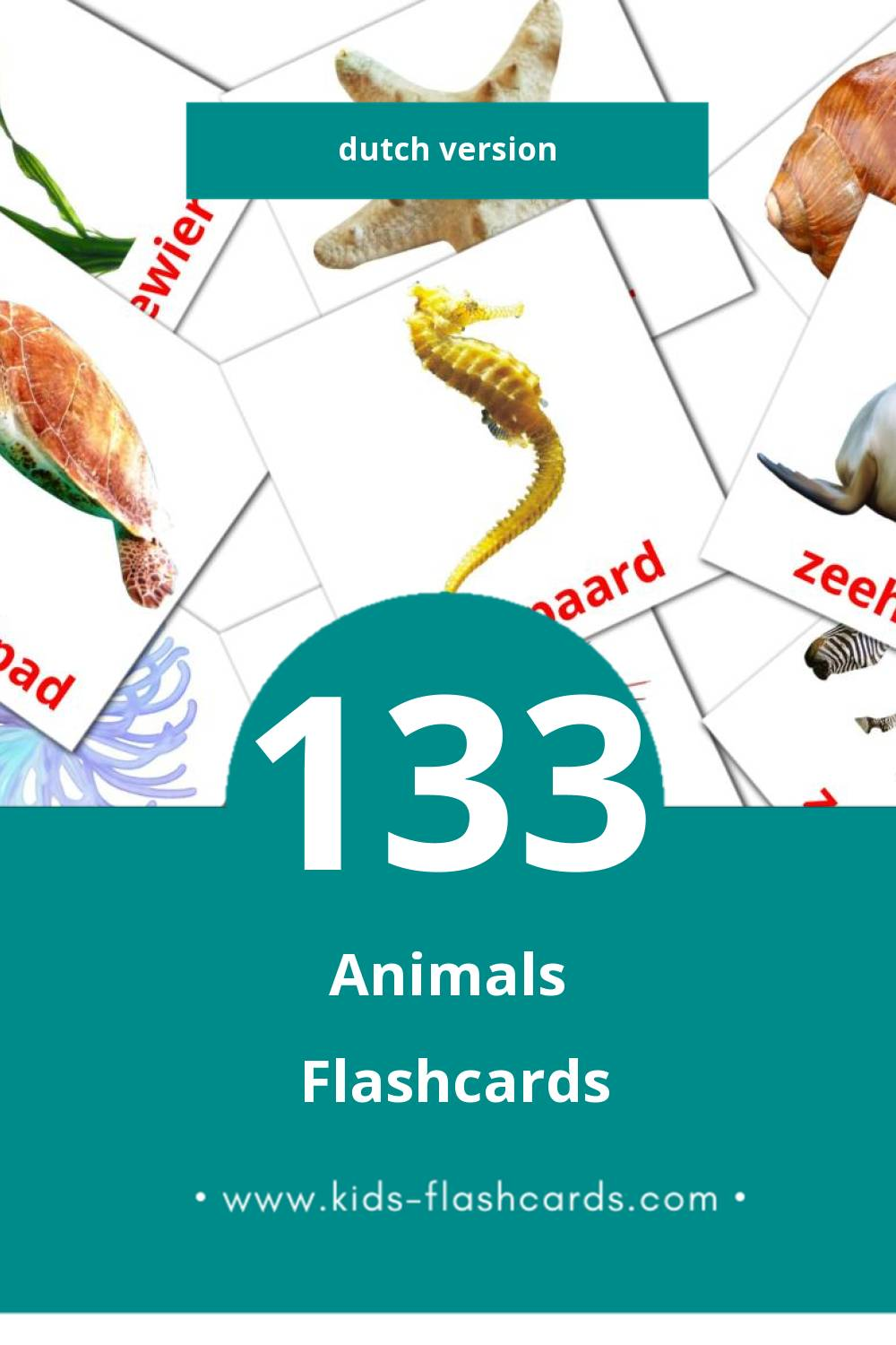 Visual Beesten Flashcards for Toddlers (132 cards in Dutch)