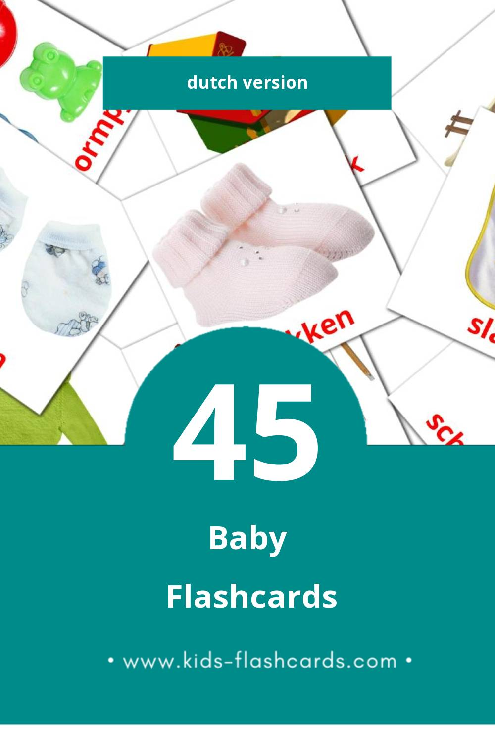 Visual Peuters Flashcards for Toddlers (33 cards in Dutch)