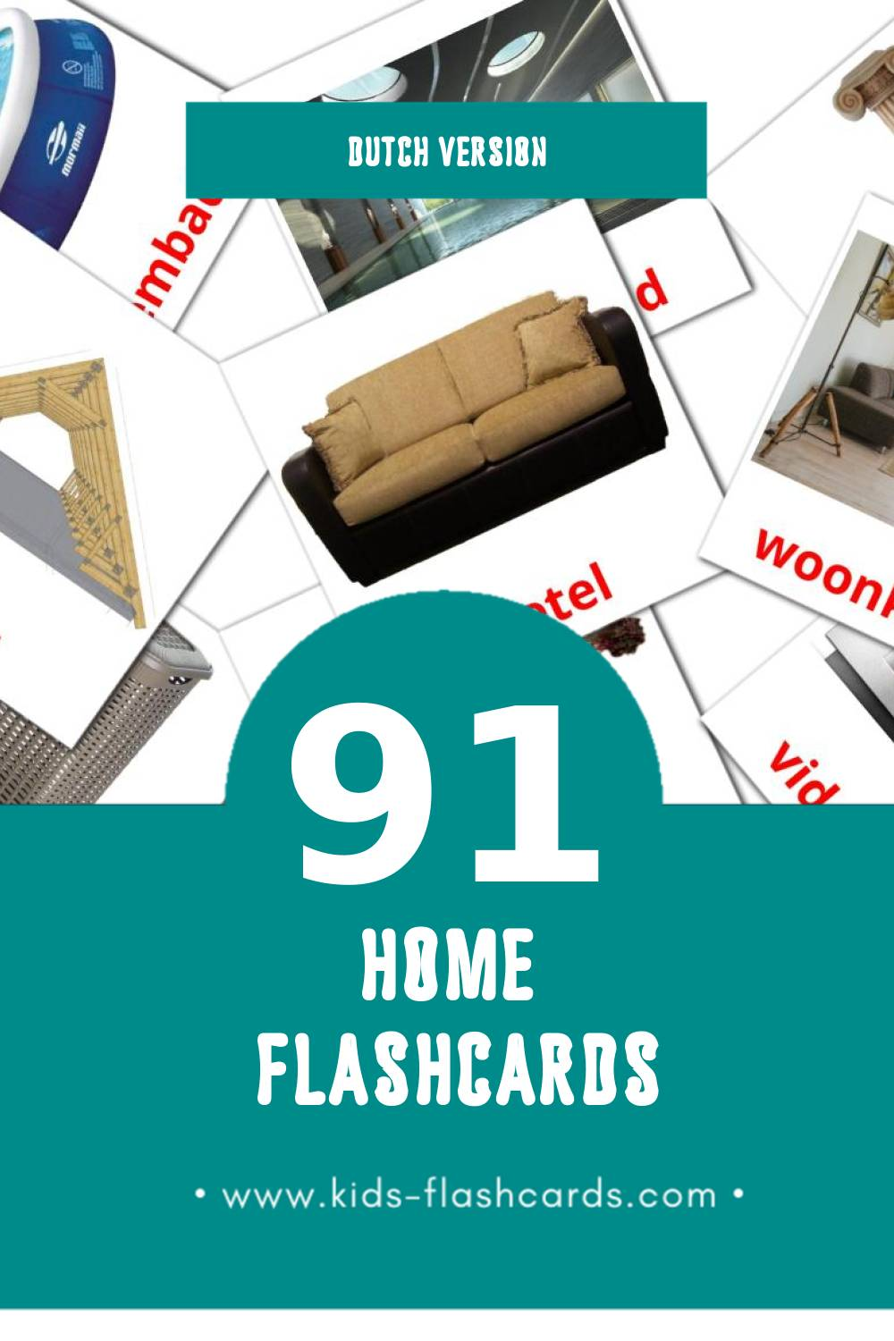 Visual Huis Flashcards for Toddlers (74 cards in Dutch)