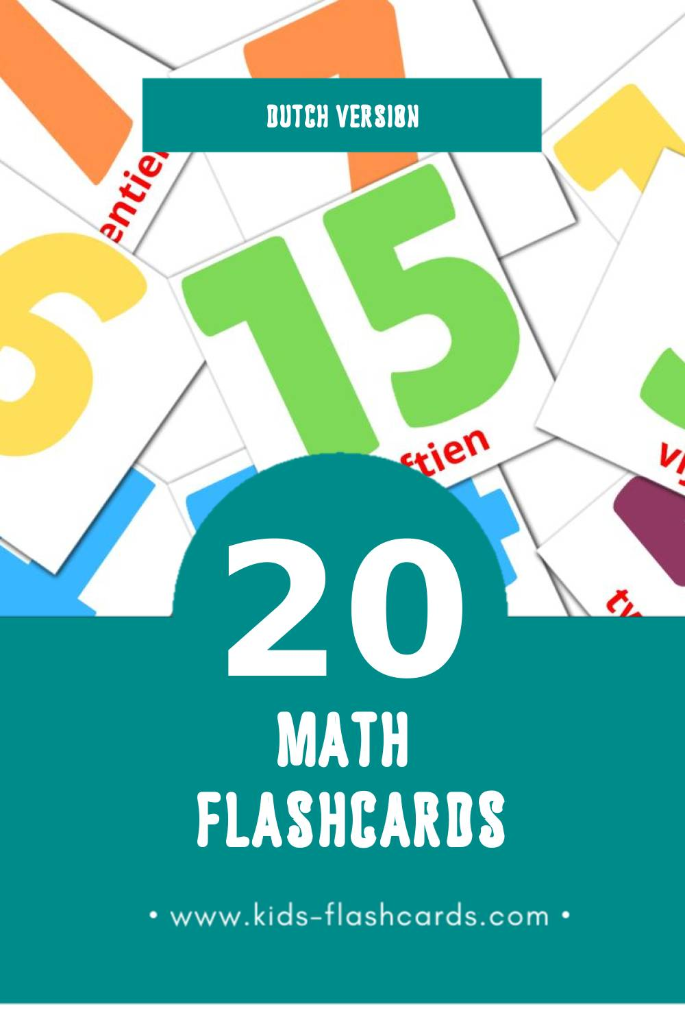 Visual none Flashcards for Toddlers (20 cards in Dutch)