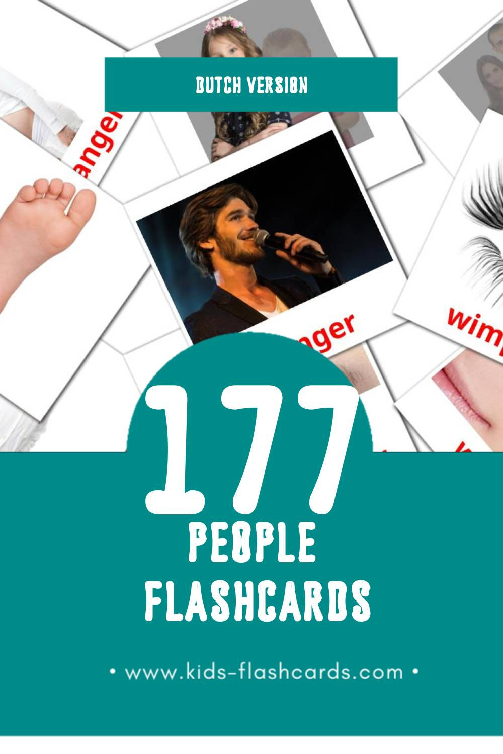 Visual Mensen Flashcards for Toddlers (58 cards in Dutch)