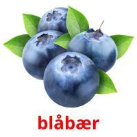 blåbær picture flashcards