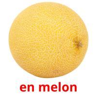 en melon picture flashcards