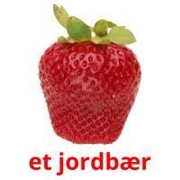 et jordbær picture flashcards