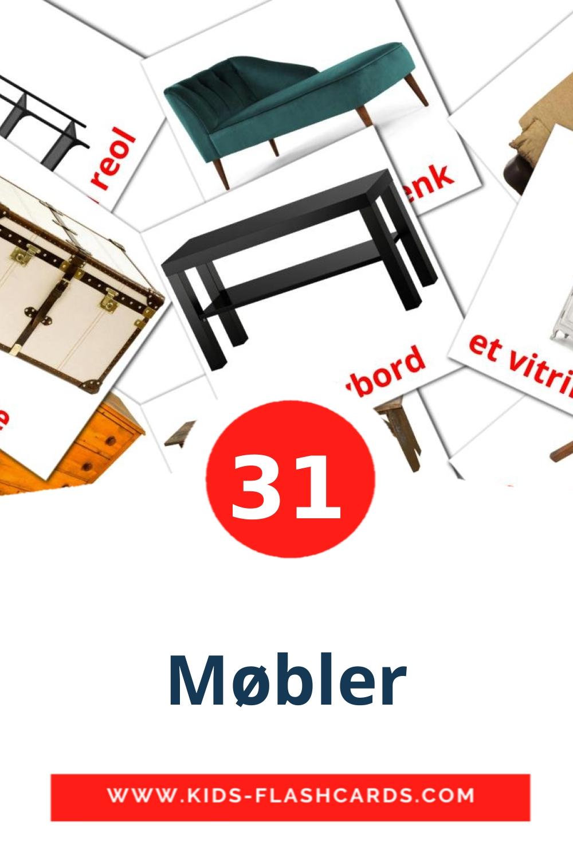 31 Møbler Picture Cards for Kindergarden in norwegian