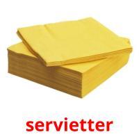 servietter picture flashcards