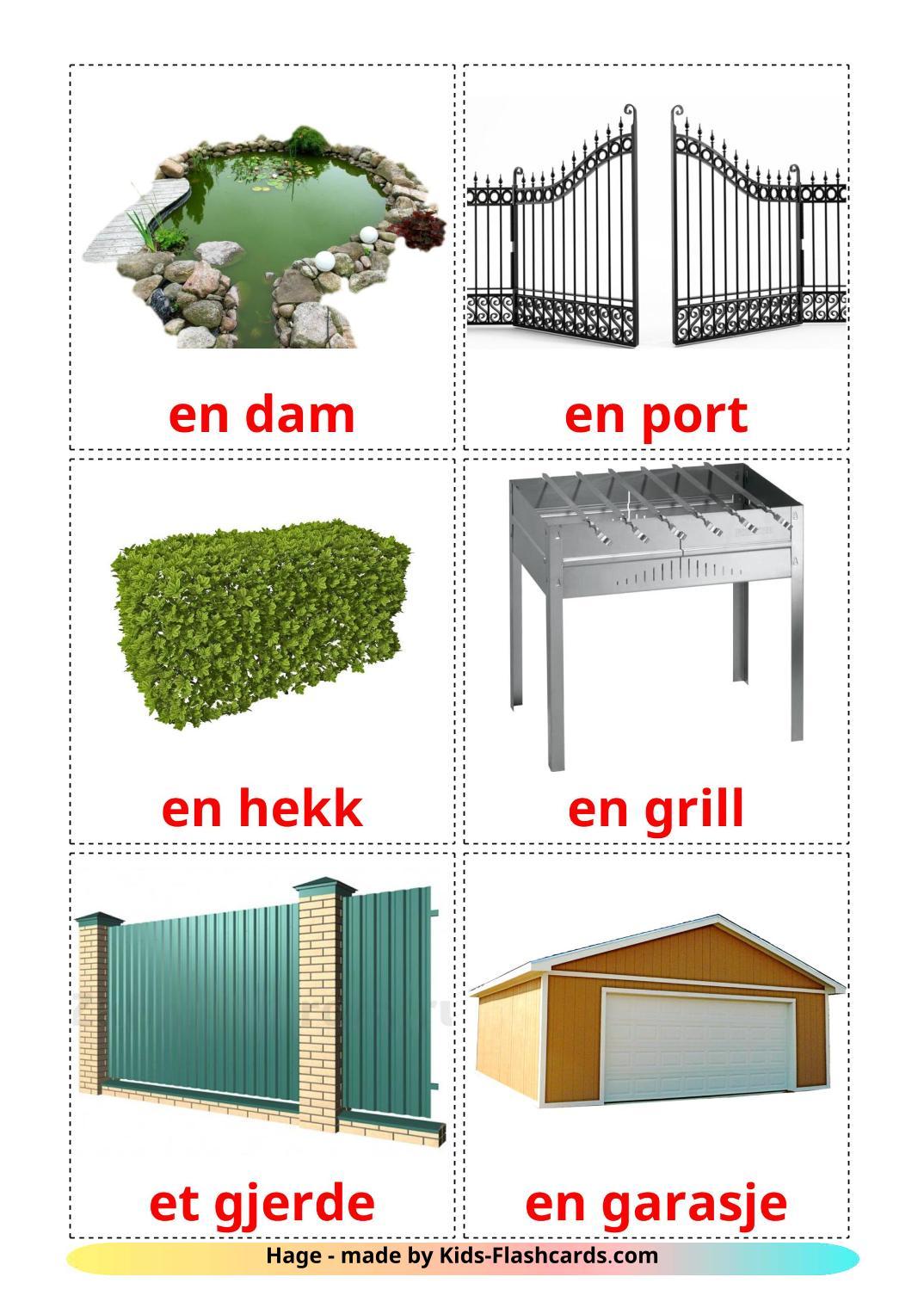 Garden - 18 Free Printable norwegian Flashcards