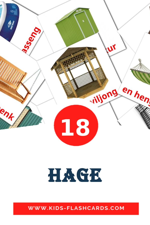18 Hage Picture Cards for Kindergarden in norwegian