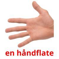 en håndflate picture flashcards
