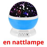 en nattlampe picture flashcards