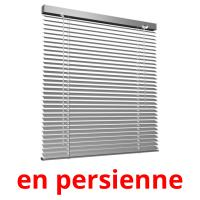 en persienne picture flashcards